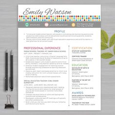 Teaching Resume Templates Teacher Resume Template  Teacher Resume Template  Pinterest .