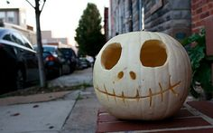 white Halloween Pumpkin Carving