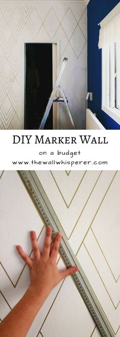DIY project tutorial. How to make a beautiful marker wall mural with a paint pen, or a sharpie pen. DIY Home Improvement On A Budget - Make simple projects - Easy and Cheap Do It Yourself Tutorials for updating, upgrading and renovating your house - Home Decor Tips and Tricks, Remodeling and Decorating Hacks - DIY Projects and Crafts by The Wall whisperer. #diyhomedecor