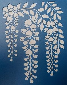 Stencils & Templates - Wisteria Stencil for sale online Stencil Art, Stencil Designs, Flower Stencils, Stencil Material, Diy And Crafts, Paper Crafts, Kirigami, Wisteria, Fabric Painting