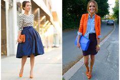 ¿Cómo armás tus equipos? Combiná los colores  Una combinación fresca y con mucha onda. Probá con una camisa de jean para darle un toque de informalidad. Foto: prettydesigns.com y polliani.com