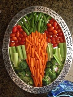 Easter Veggie Tray #appetizer #crudite