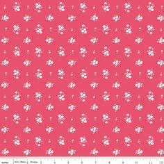 Pink White and Aqua Vintage Mini Floral by RaspberryCreekFabric, $8.35