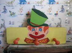 Vintage  Wooden Kitschy Clown Rack  Wall/Coat by ShaneLilyRain, $15.00