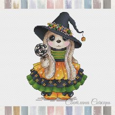 Neuigkeiten Needlepoint Patterns, Counted Cross Stitch Patterns, Cross Stitch Designs, Cross Stitch Embroidery, Cute Cross Stitch, Basic Colors, Beautiful Patterns, Bunny, Fabric