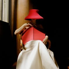 Rodney Smith, Bernadette in Red Hat with Book, New York Public Library, 2003, Gilman Contemporary