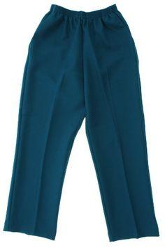 8ce2aacdc7f Alfred Dunner Classics Petite Elastic Waist Pants Cloud Blue 8P M Elastic  Waist Pants
