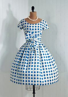 1950's blue polka dot....love.