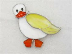 Easter Stained Glass Suncatcher Stained Glass Duck by GlassCat