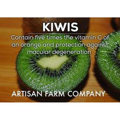 Backyard Benefits Series IX: #Kiwi will give you all the #vitamin C you can handle. Let Artisan Farm Company help you. Sign up for our email list, or give us a buzz. www.artisanfarmcompany.com :ghost: ArtisanFarmCo -------------------------------------- :