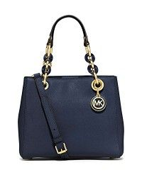 Michael Kors Cynthia Small North South Satchel (Navy)