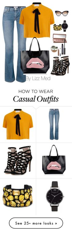 """Casual"" by lizz-med on Polyvore featuring RED Valentino, Urban Decay, STELLA McCARTNEY, Olivia Burton and Cutler and Gross"