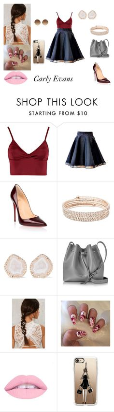 """""""O Segredo de Ava Kavanagh Grey - 3° Temporada"""" by nadine-lima ❤ liked on Polyvore featuring Lipsy, Christian Louboutin, Anne Klein, Kimberly McDonald, Lancaster, Casetify and Victoria Beckham"""