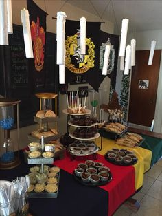 Harry Potter buffet. Cornish pasties. Pumpkin pasties. Bangers and mash. Shepard's pie. Cauldron cakes. Golden snitch cake pops. Deviled dragon eggs.