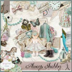 """Always Shabby"" by Doudou's Design to Scrap Digital Crea http://digital-crea.fr/shop/kits-complets-c-1/always-shabby-p-15760.html      ..."