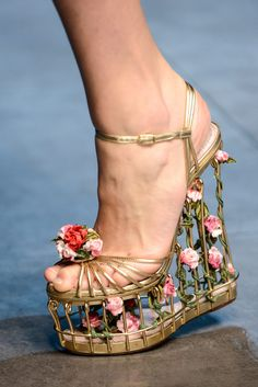 Dolce & Gabbana Fall 2013 Ready-to-Wear Rose cage platforms