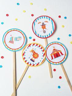Décoration gâteau cirque à imprimer