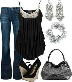 Love it ...even with black jacket for cooler weather such a pretty outfit