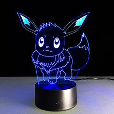 My review of AIBULBHOT NEW Pokemon Go EEVEE Collection Game Figure Toys Pokemon Pikachu Model 3D Night Light Color Change Pokemon Toys Gift Drop Shipping