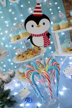 Daphne S's Birthday / winter wonderland - Photo Gallery at Catch My Party Penguin Birthday, Birthday Fun, Penguin Party, Birthday Ideas, Birthday Crafts, Winter Birthday Parties, Xmas Party, Winter Wonderland Birthday, Christmas Wonderland