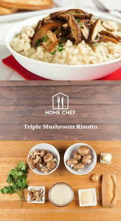 What's better on a cold winter night than a bowl of creamy, cheesy, and hearty risotto? The answer is nothing. Our triple mushroom risotto packs a major umami punch with porcini-shiitake broth and topped with roasted shiitake and cremini mushrooms. Enjoy this and thank us later.