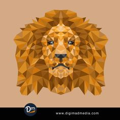 vector image Lion polygon background Vector Abstract Design  #design #vector #lion #animal #graphic #art