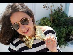 Tutorial: Collar Peter Pan/Babero lentejuelas dorado