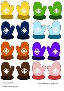 mitten match Preschool Themes, Montessori Activities, Color Activities, Winter Activities, Preschool Activities, Winter Crafts For Kids, Art For Kids, Winter Snow, Winter Christmas