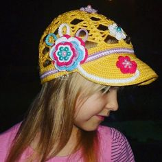 Cap with flower for girls by FloralCap on Etsy