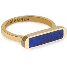 Edge of Ember - Unity Lapis Gold Ring