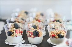 Fruit and Yogurt Parfaits--party food Eleanor's Baptism Party--the deets  Vegan Faith