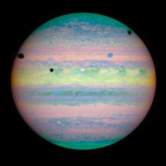 Witness a rare eclipse of three of Jupiter's moons -- Io, Ganymede, and…