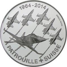 20 Franken Silber Patrouille Suisse PP