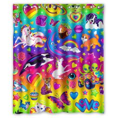 #lisafrank #lisafrankart #lisafrankhair #lisafrankforever #lisafranklin #lisafranklinskincare #lisafrankmakeup #lisafrankcollection #lisafrankcostume #lisafranklove #lisafrankpanda #lisafrankrealness #LisaFranksSideChicks #lisafrankstickers Cool Shower Curtains, Custom Shower Curtains, Lisa Frank, Swag, Shower Time, Forever, Waterproof Fabric, Stickers, Pattern Design