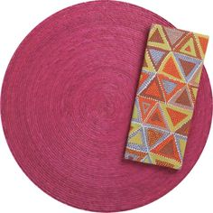 Tropical Palm Hot Pink Placemat and Suri Warm Napkin in Placemats | Crate and Barrel