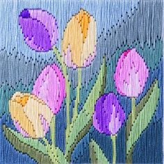 Tulips Long Stitch Kit - £15.75 on Past Impressions | by Derwentwater Designs