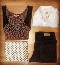 Wear loose fitted tops with jeans for a stylish and easy day outfit. Jeans and both white tops from @byoung_fashion and dark printed top from @smash_wear