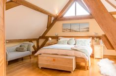The current Interior of the second bedroom in 2015 The Woodhouse, Oak Framed Buildings, Garden Design, House Design, Two Bedroom, Build Your Own, Two By Two, Scrapbook, Homes