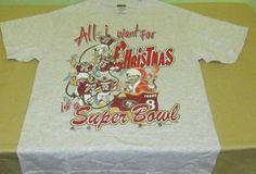 Vntg 90s SF SAN FRANCISCO 49ers  NFL T Shirt Sz M Medium - Gray - STEVE YOUNG…