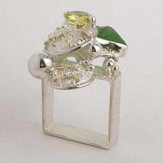 Gregory Pyra Piro #Schmuckkunst Silber und Gold mit #Edelsteinen Unikat #Ring