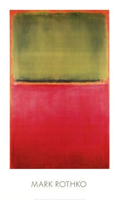 Green, Red, on Orange by Mark Rothko art print