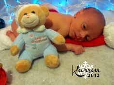 Newborn first Christmas photo. Karson Bryce <3