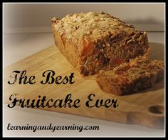 My mom always made the best fruitcake ever. No candied fruit and not too sweet. But the real secret to this real food, moist, fruitcake is whiskey, guys! Best Fruitcake, Decadent Food, Just Cakes, Real Food Recipes, Christmas Recipes, Yummy Recipes, Cake Recipes, Dessert Recipes, Cake
