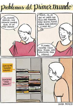 Problemas del primer mundo: camisetas. #humor #risa #graciosas #chistosas #divertidas