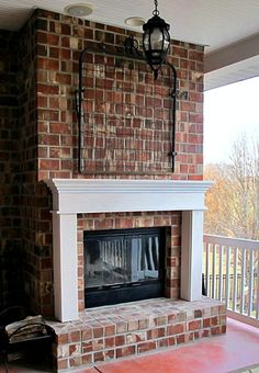 A Mantel for the Back Porch Fireplace