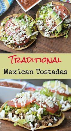 Mexican Tostadas, Ceviche Mexican, Mexican Salsa, Mexican Chicken Tacos, Mexican Meat, Mexican Crema, Mexican Stuff, Mexican Shrimp, Mexican Pizza