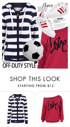 """""""Sporty Girl"""" by vanjazivadinovic ❤ liked on Polyvore featuring adidas, dresslily and polyvoreeditorial"""