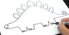 How to draw dinosaurs easy how to draw a stegosaurus for younger artists how to draw . how to draw dinosaurs easy Drawing Videos For Kids, Easy Drawings For Beginners, Easy Drawings For Kids, Colorful Drawings, Cartoon Drawing Tutorial, Cartoon Drawings, Animal Drawings, Drawing Tutorials, Drawing Animals