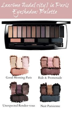Lancôme Auda[city] in Paris Eyeshadow Palette   can be used as 4 coordinated harmonies