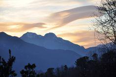 Tramonto sulle Alpi Apuane